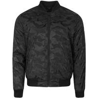 3243802ddd9 The  Valence  bomber jacket in black camo is the go to jacket this season  if you want to be on trend. The bomber itself is highly stylish this time  of year ...