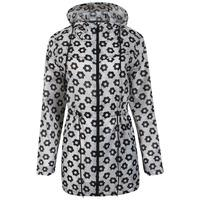 df70e65c4a Ella Pac A Mac Lightweight Jacket in Black   White Daisy Print